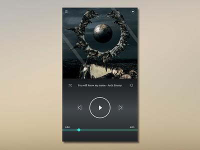 Daily UI #009 - Music Player app design dark name metal archenemy player music 009 ui daily