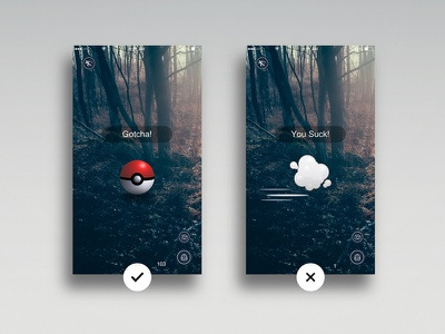 Daily UI #011 - Flash Message daily redesign love mobile yousuck play gotcha game pokemongo message flash 011 ui