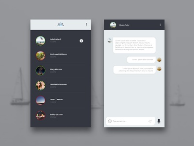 Daily UI #013 - Direct Messaging daily shadow interactive contact social onlineoffline profiles chat messaging direct 014 ui