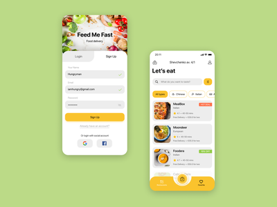 Food delivery app ios delivery app food app ui ux ui design app