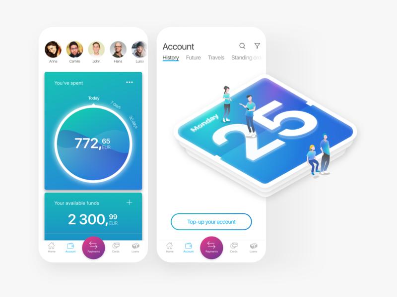 Galperin mobile loans ios illustration exchange cash apps bank application