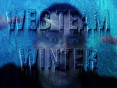 Winter is coming fun text