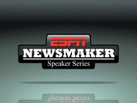 Logo: ESPN Newsmaker Speaker Series