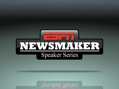 Logo: ESPN Newsmaker Speaker Series newsmaker espn illustrator logo