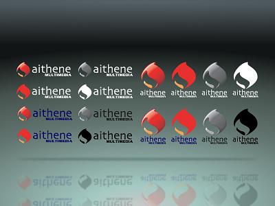 Logo: Aithene Multimedia digital print design branding visd visual design illustrator logo