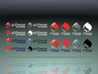 Logo: Aithene Multimedia digital print design branding visd visual design illustrator logo