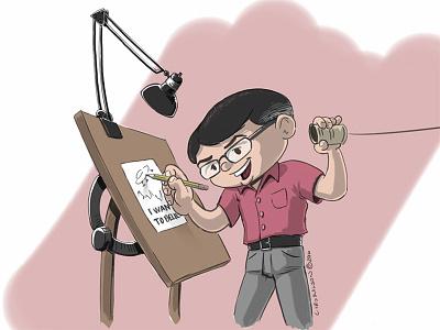 Tin Can Remote morning routine working remote sketchbook pro illustration digital inks blog cover