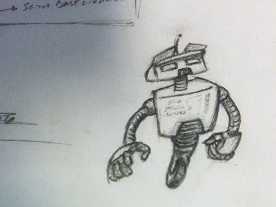 Robotdoodle sketch mechanical pencil paper