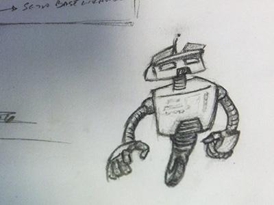 Robotdoodle sketch mechanical pencil paper