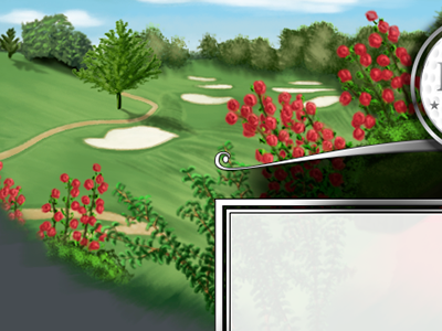 Golfgreens espys digital painting photoshop