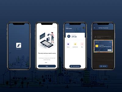 Smart Card logo design card ux ui smart city ticket app ticket travel app