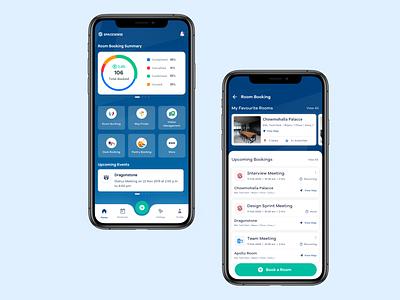 Roombooking App uxui uxdesign ui design product mobile app design mobile app clean ux