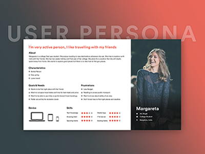 UX Persona for Travel App