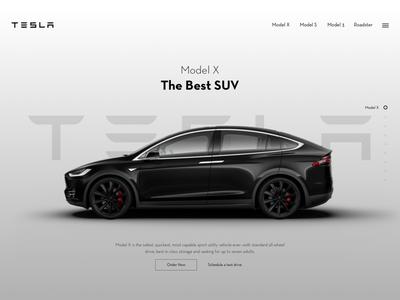 Tesla Landing Page Design
