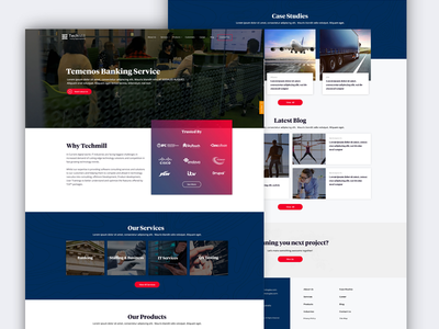 Homepage banking ux ui page one me landing color app agency