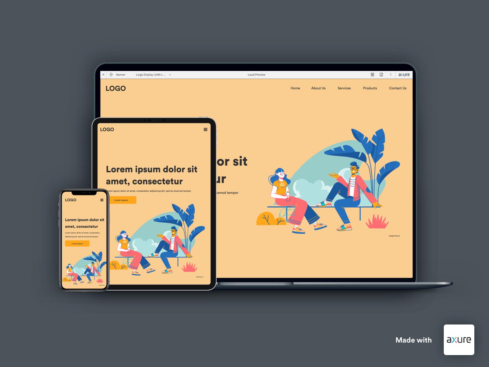 Landing Page Design Created In Axure Rp 9 By Karthikeyan Vibeeshanan On Dribbble