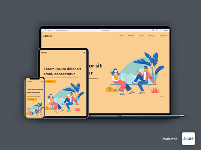 Landing Page Design - Created in Axure RP 9 landingpage user experience user interface websites web landing ui clean
