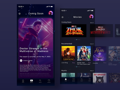 Coming Soon 048 coming soon movies films app mobile daily challange daily 100 challenge ui design dailyui