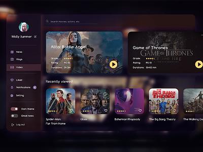 Video Player movie app films video daily 100 challenge ui design dailyui