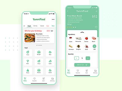 YummiFood App food app food app mobile daily 100 challenge ui design dailyui