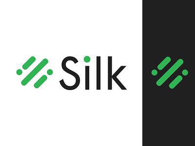 Logo design for Silk company. logo design white black green animation branding logotype logo