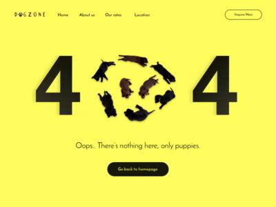 Daily UI - Day 008 digital landing website design ux ui webpage web page 404