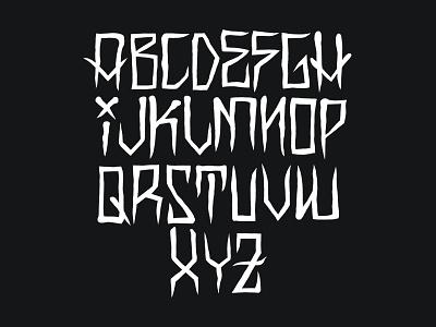 Neo-Traditional Font gothic blackwork alphabet font traditional neotraditional