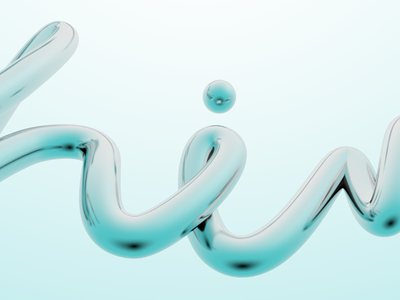 Shine WIP typography type 3d c4d spring summer