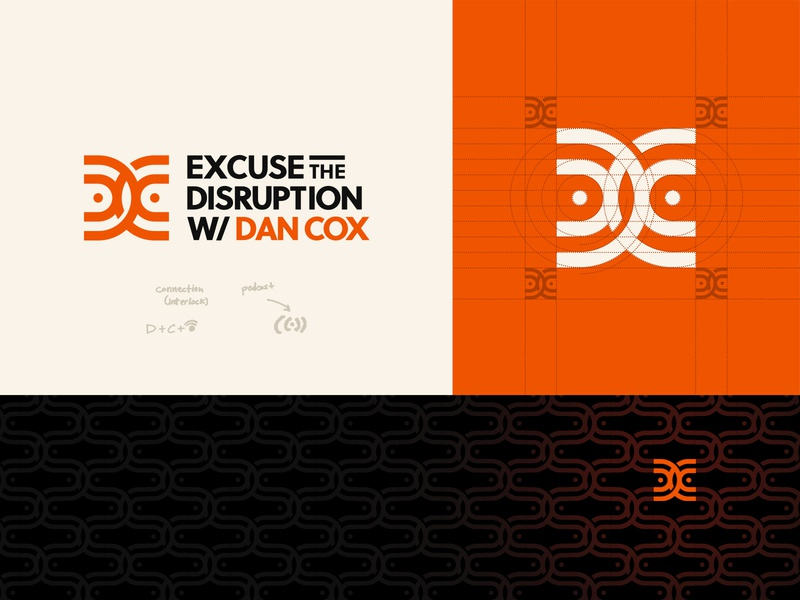 Logo Design for a Podcast Show minimal corporate branding corporate corporate identity clean logo c logo d logo pattern mark dc logo icon icon symbol identity monogram podcast logo orange color scheme orange logo logodesign branding