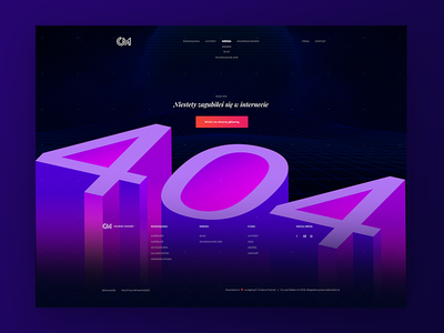 🆒👁️🗨️ Modern 404 Page | Gradients CourseMakers 404 Website