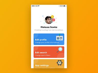 🧔📝 Application settings design flat design settings application