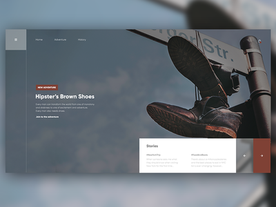 👞🛒 Shoes Shop UI Design | Flat and Simple Homepage Design