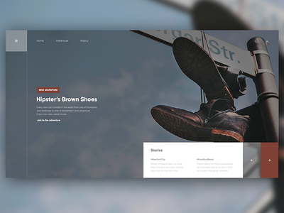 👞🛒 Shoes Shop UI Design | Flat and Simple Homepage Design brown flat simple ui design shop homepage shoes