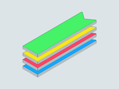 Stacks on stacks on stacks illustration vector design bookmark