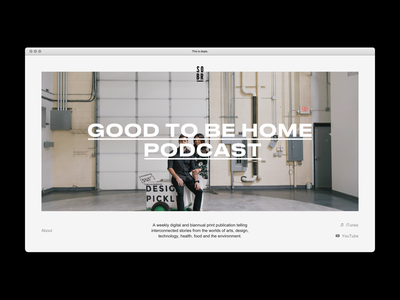 SOBR minimal app simple podcast ui design typography web website