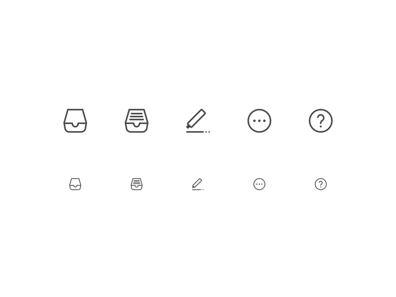 Icons icons design icons menu ui simple typography app website web