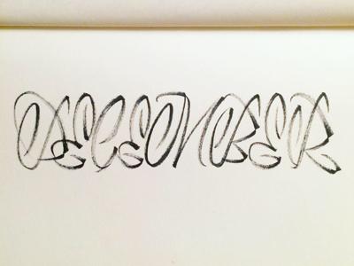 December allcaps experiment brushpen brush calligraphy script lettering letter typography type