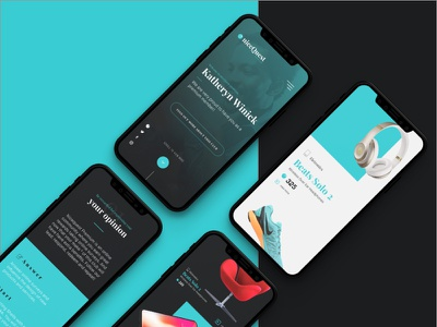 Reponsive version of Nicequest web interaction turquoise mobile responsive web