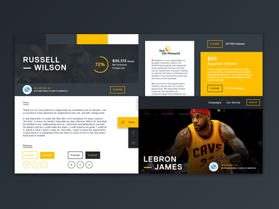 Energetic Style Tile interface web design ui typography text navigation header hero icon design button style tile