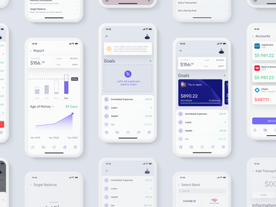 Akuna - Personal Finance prototype principle clean minimal ios sketch app design ux ui