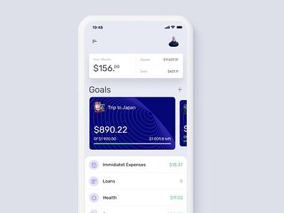 Akuna Wealth Transition banking app finance app bank principle prototype clean minimal ios sketch app design ux ui