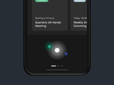 Schedule a meeting - VOICE voice assistant voice animation prototype principle clean ios sketch app design ux ui