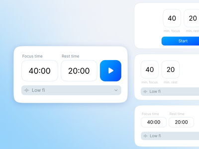 Chrome Extension - Timer Exploration extension chrome ios minimal app design ux animation ui