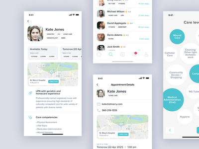 Medical Appointment iOS App onboarding medicine medical minimal sketch ios app design ux ui
