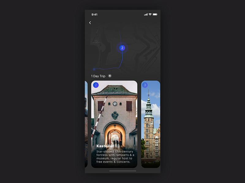 Trvl app   location viewing