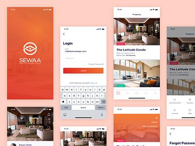 Property Management iOS App user interface ui design simple clean minimal sketch ios app design ux ui
