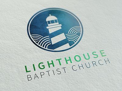 Logo for Lighthouse Baptist Church church illustration design branding logo