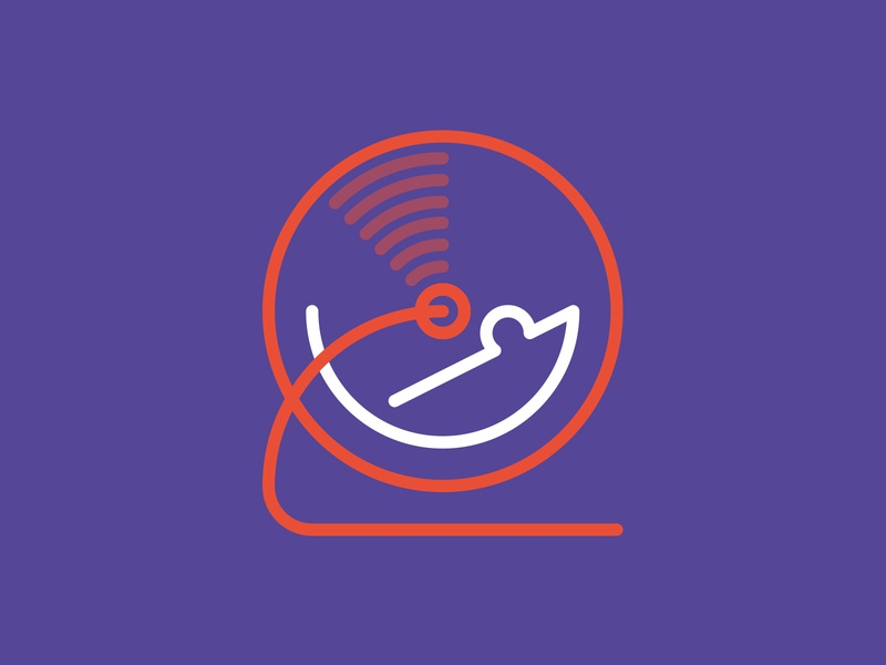 Rat race brand logo design mouse logo