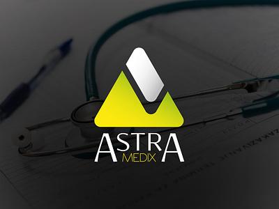 Astra Medix logo plan vector logo design brand branding logo