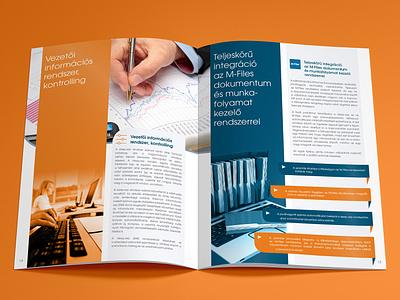 DEEP.erp brochure spread layout brochure design